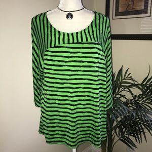 Dana Buchman  Knit Stripe Top